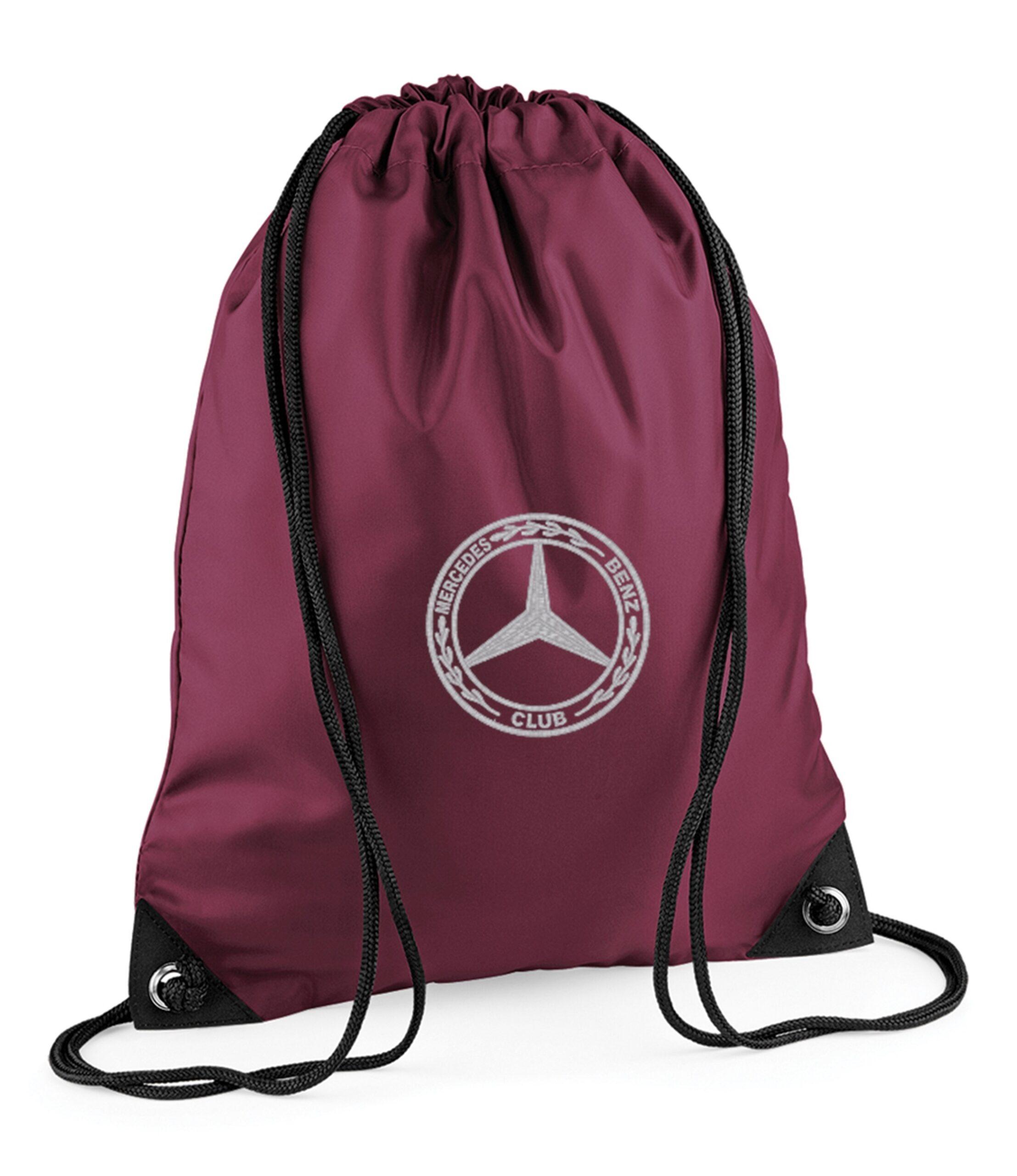 Mercedes Benz Gym Sac Burgundy