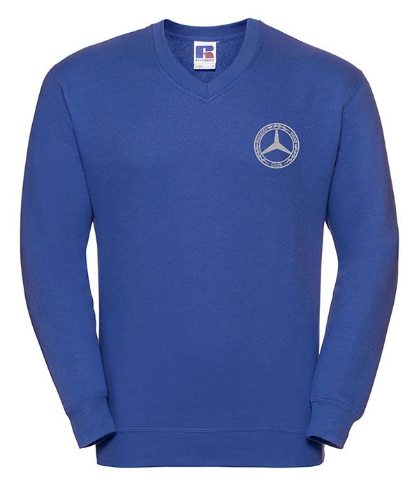 Mercedes-Benz Club V Neck Sweatshirt Blue