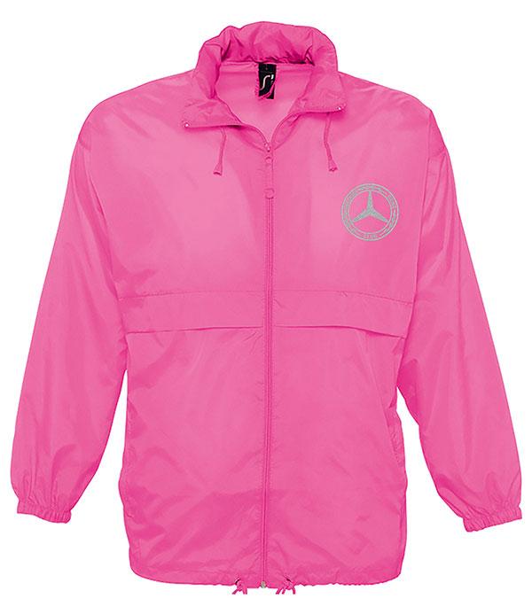 Mercedes-Benz Club Unisex Surf Windbreaker Jacket Pink