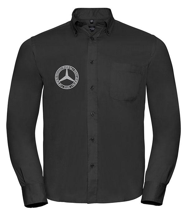 Mercedes-Benz Club Long Sleeve Classic Twill Shirt Black