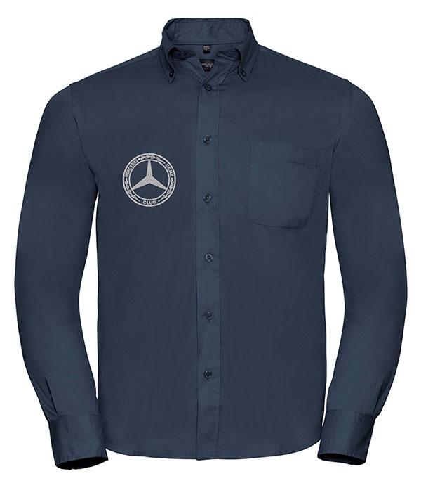 Mercedes-Benz Club Long Sleeve Classic Twill Shirt Blue