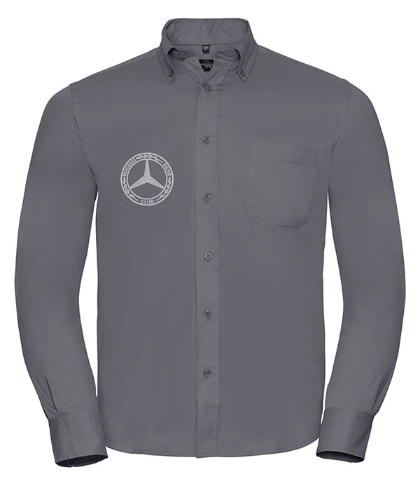 Mercedes-Benz Club Long Sleeve Classic Twill Shirt Grey