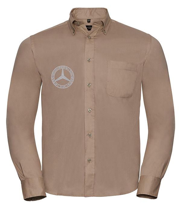 Mercedes-Benz Club Long Sleeve Classic Twill Shirt Khaki