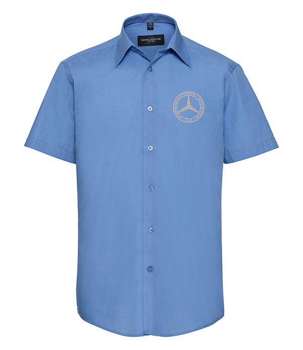 Mercedes-Benz Club Short Sleeve Tailored Poplin Shirt Blue