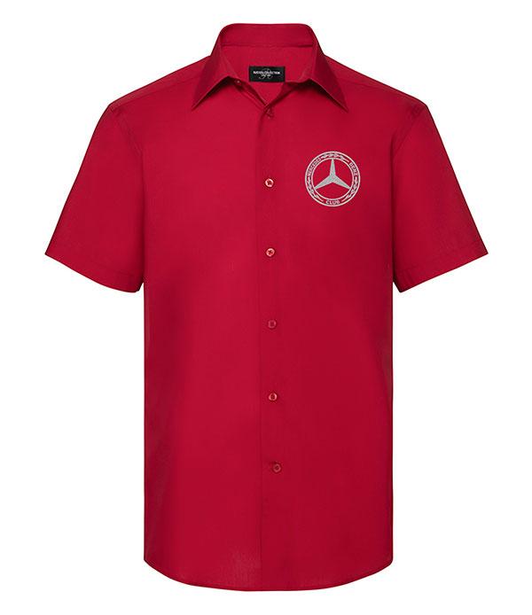 Mercedes-Benz Club Short Sleeve Tailored Poplin Shirt Red