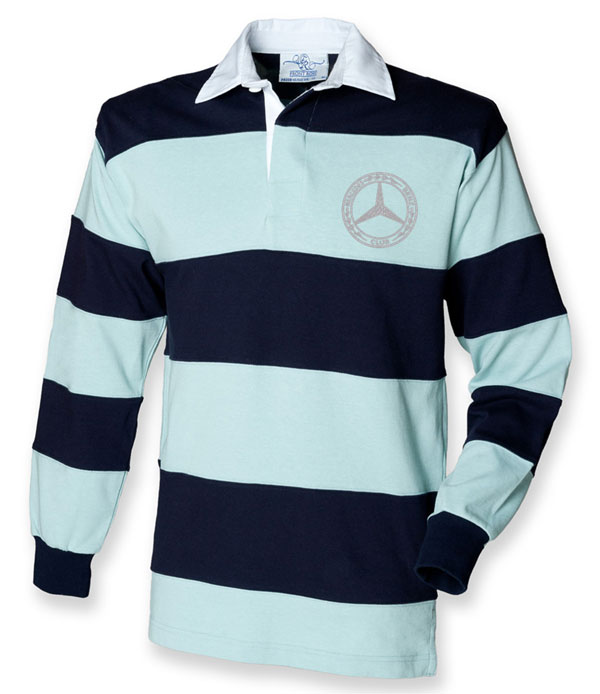 Mercedes-Benz Club Shop UK Stripped Rugby Shirt