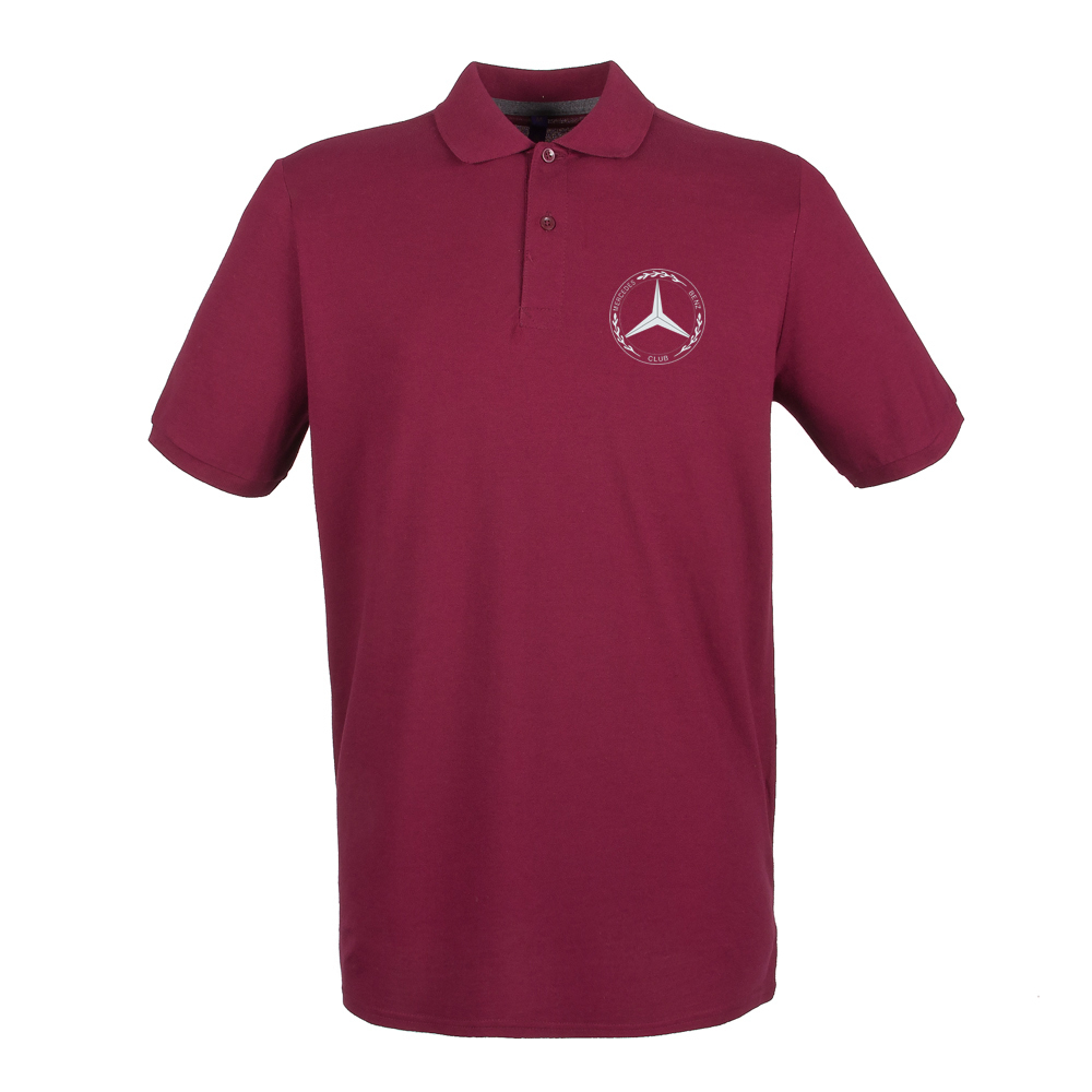 Mercedes-Benz Club Burgundy Microfine Cotton Polo Shirt