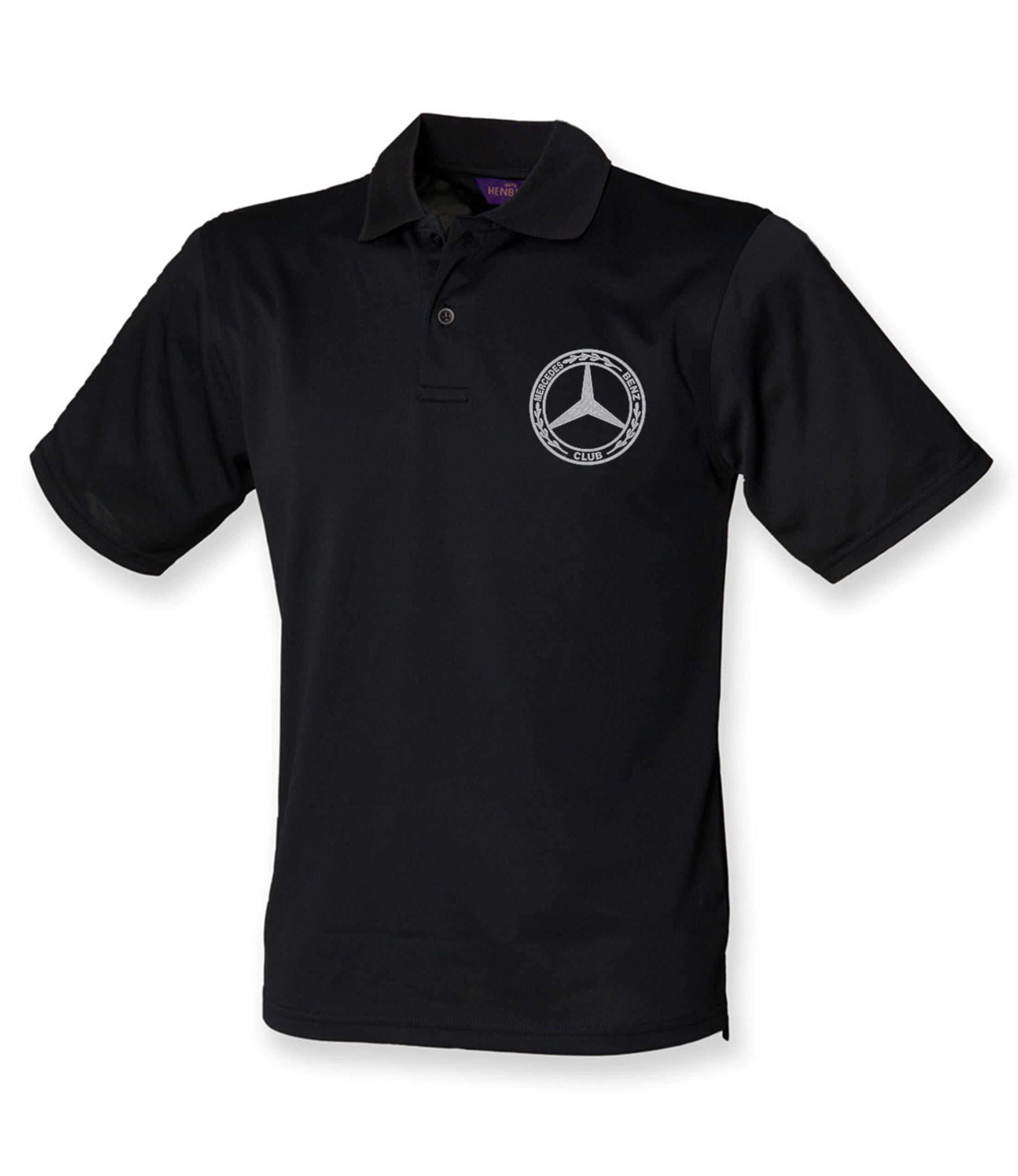 Mercedes-Benz Club Wicking Pique Polo Shirt Black