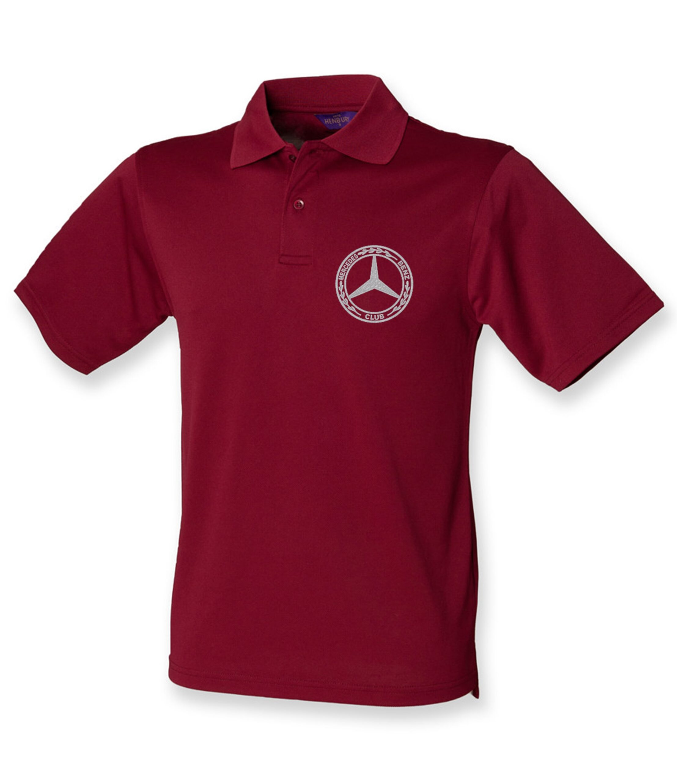 Mercedes-Benz Club Wicking Pique Polo Shirt Burgundy