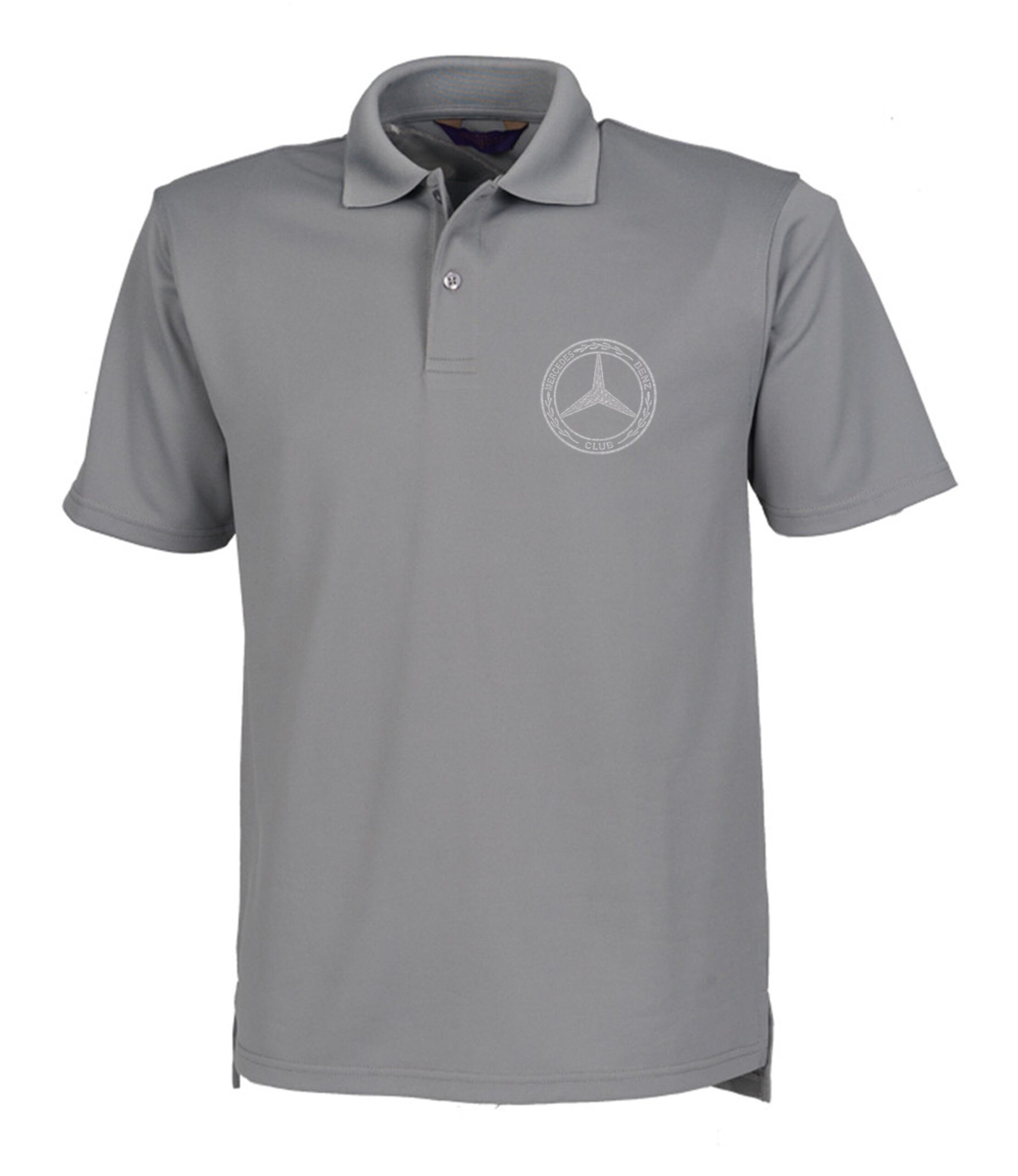 Mercedes-Benz Club Wicking Pique Polo Shirt Charcoal