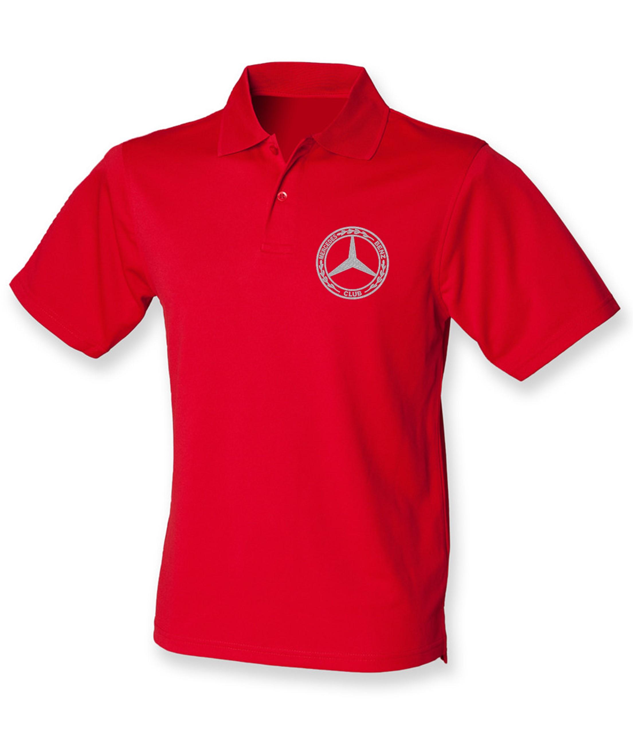 Mercedes-Benz Club Wicking Pique Polo Shirt Classic Red
