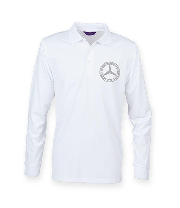 Mercedes-Benz Club Long Sleeve Coolplus Pique Polo Shirt White