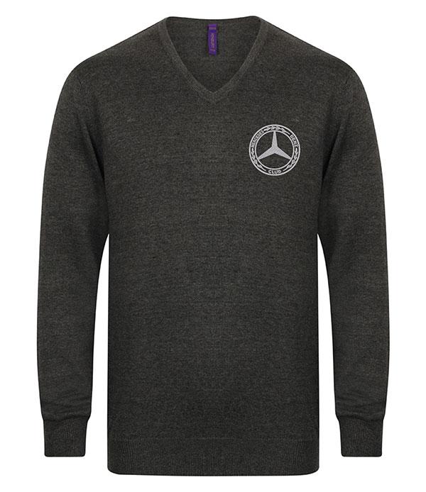 Mercedes-Benz Club Knitted V-Neck Jumper Grey