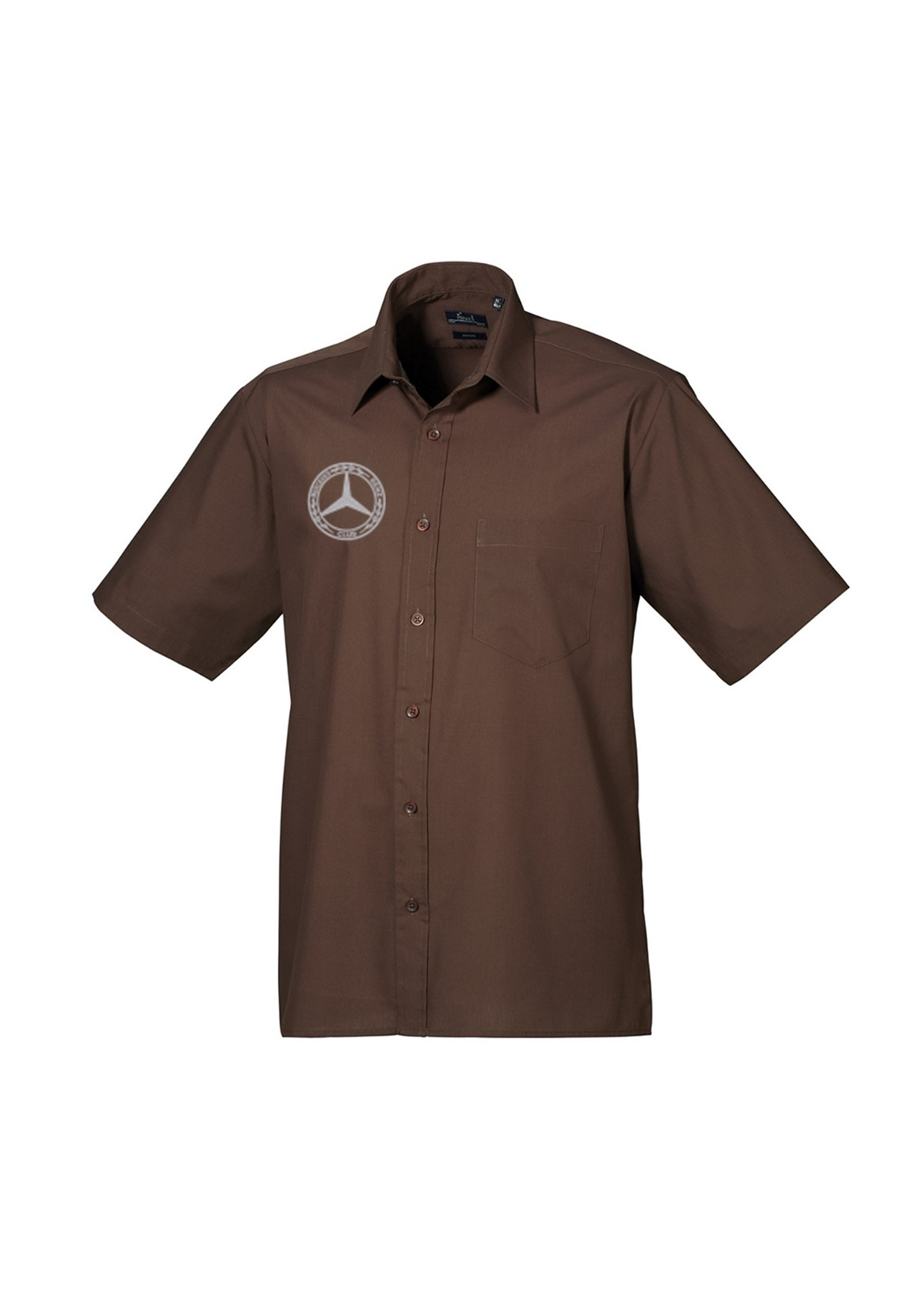 Mercedes-Benz Club Short Sleeved Poplin Shirt Brown