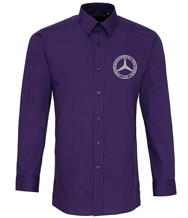 Mercedes-Benz Club Long Sleeve Fitted Poplin Shirt