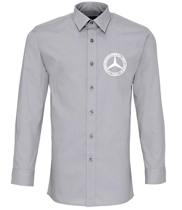 Mercedes-Benz Club Long Sleeve Fitted Poplin Shirt