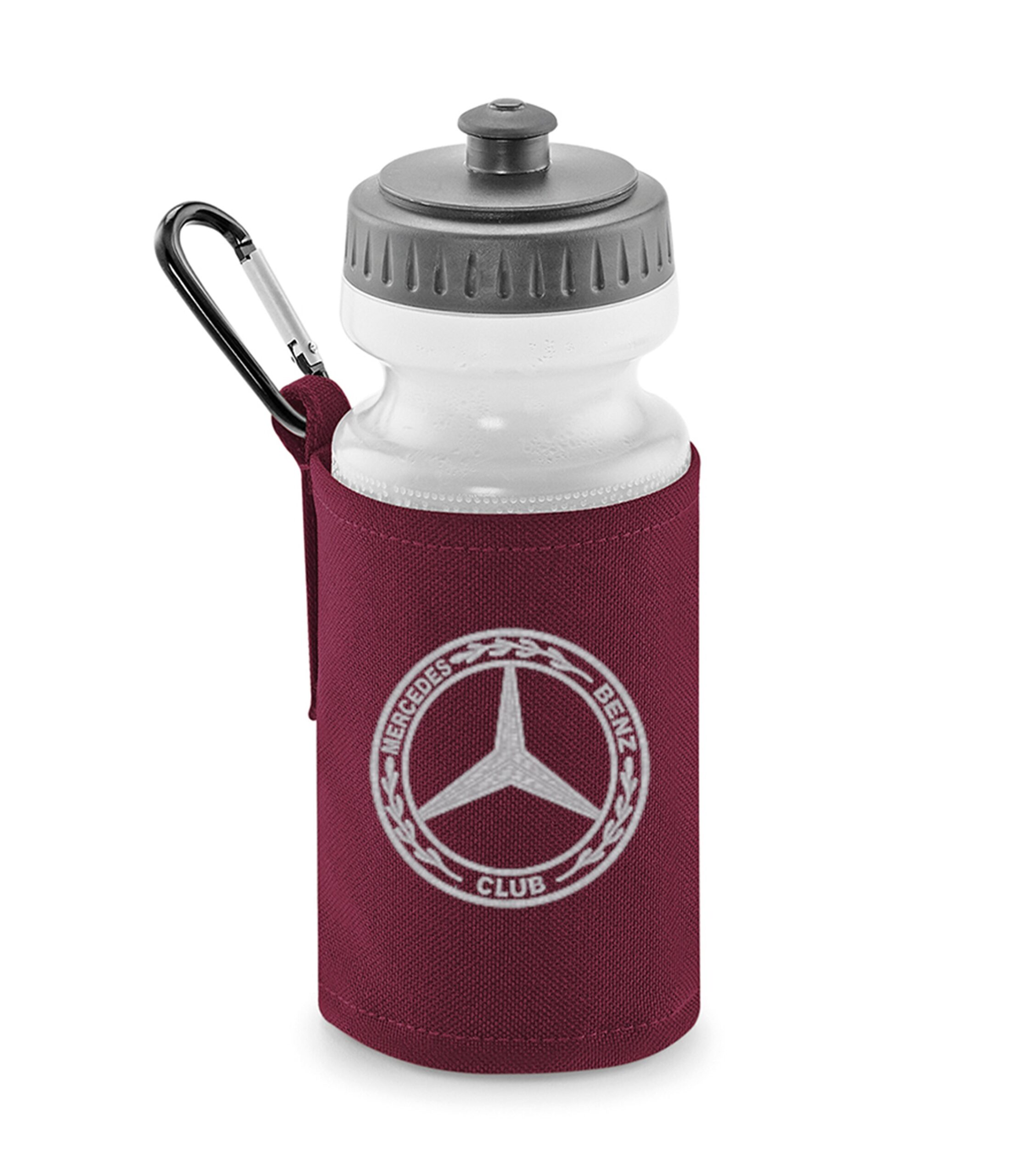 Mercedes-Benz Club Water Bottle and Holder Burgundy