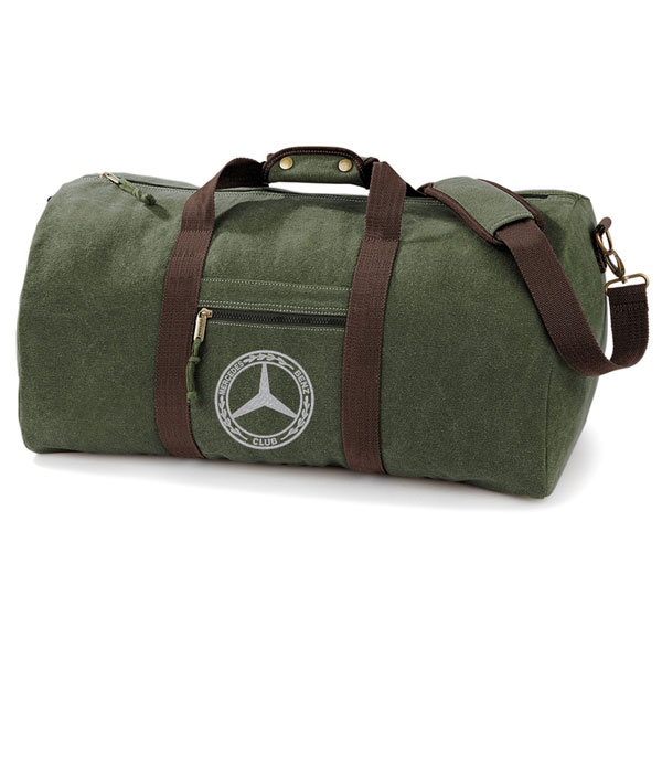 Mercedes-Benz Club Vintage Canvas Holdall Green