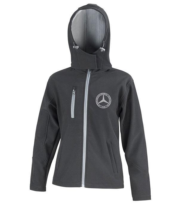 Mercedes-Benz Club Ladies Hooded Soft Shell Jacket Black