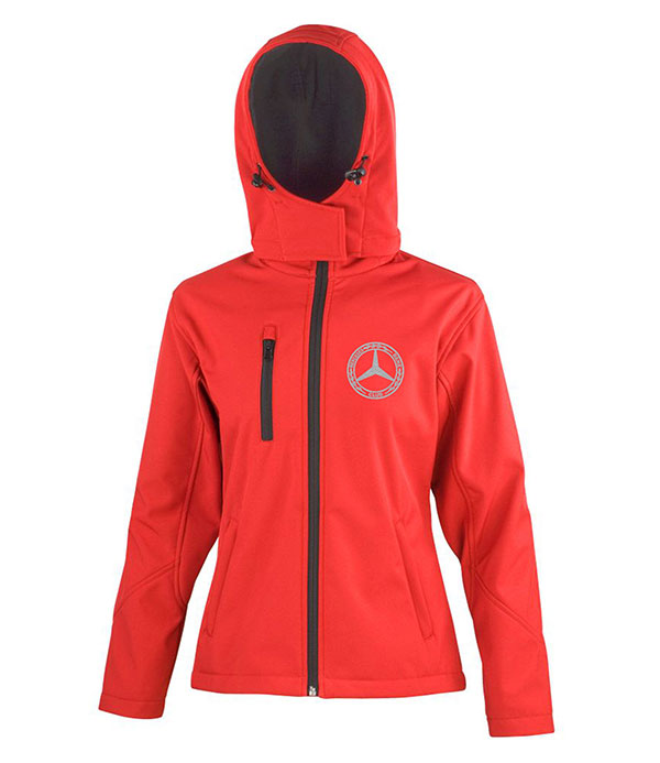 Mercedes-Benz Club Ladies Hooded Soft Shell Jacket Red