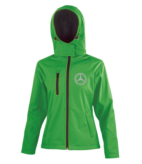 Mercedes-Benz Club Ladies Hooded Soft Shell Jacket Green
