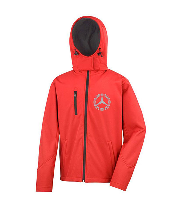 Mercedes-Benz Club Hooded Soft Shell Jacket Red