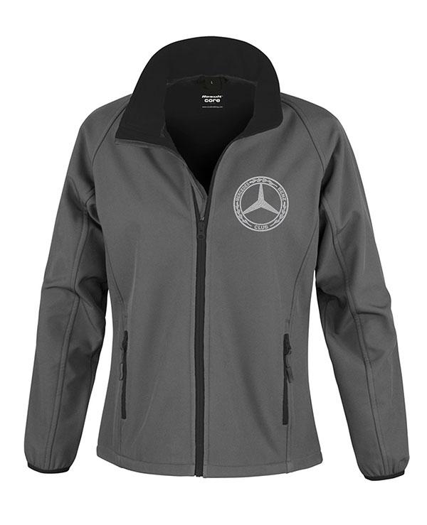 Mercedes-Benz Club Ladies Soft Shell Jacket Charcoal Black