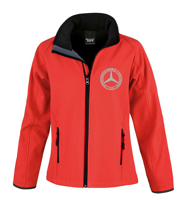 Mercedes-Benz Club Ladies Soft Shell Jacket Red