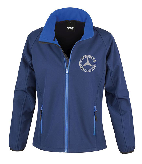 Mercedes-Benz Club Ladies Soft Shell Jacket Royal Navy Blue