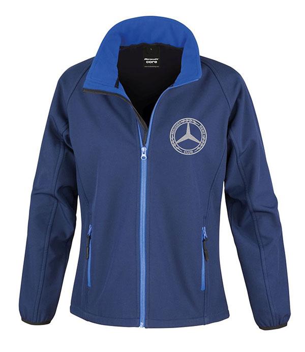 Mercedes-Benz Club Ladies Soft Shell Jacket Royal Navy Blue