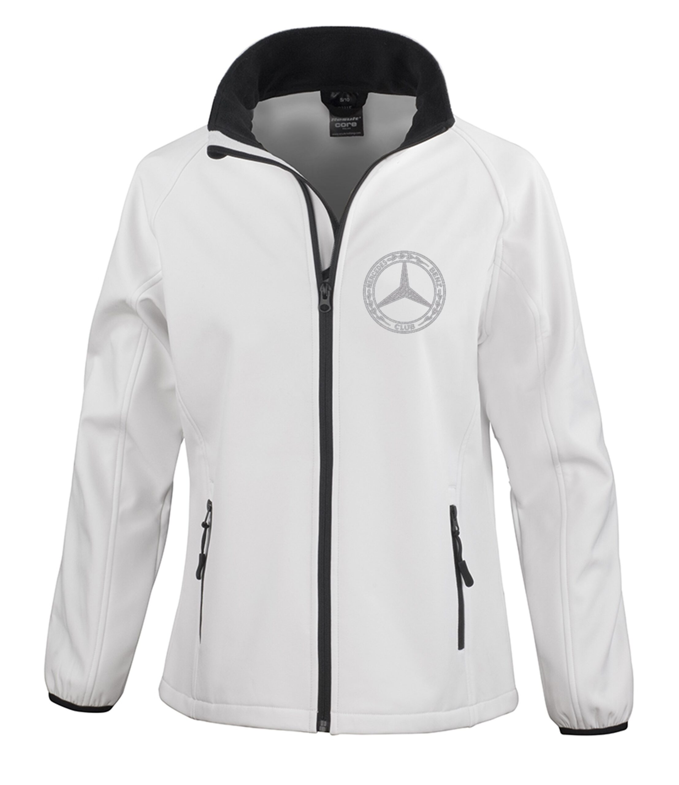 Mercedes-Benz Ladies Soft Shell Jacket White
