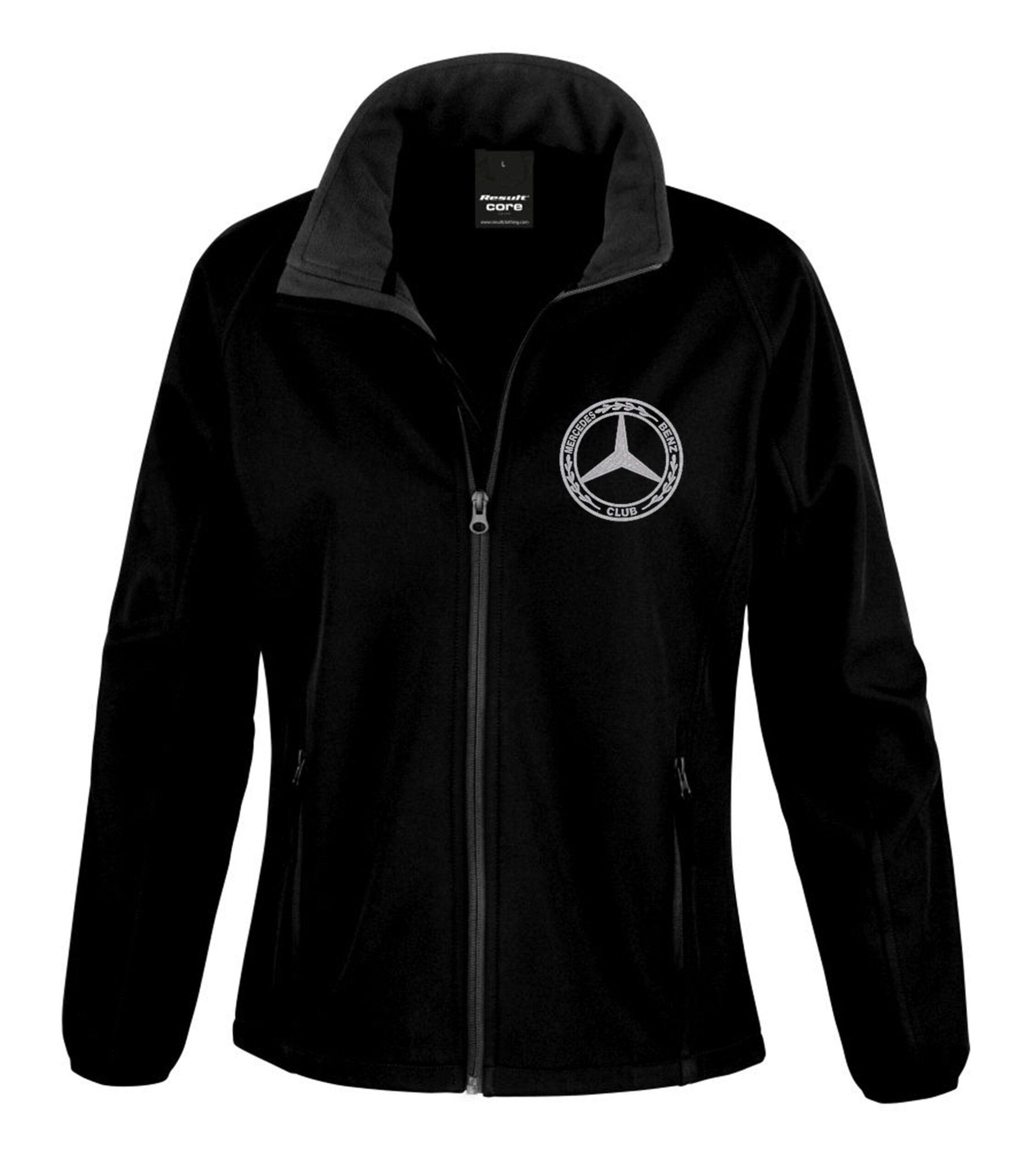 Mercedes-Benz Ladies Soft Shell Jacket Black