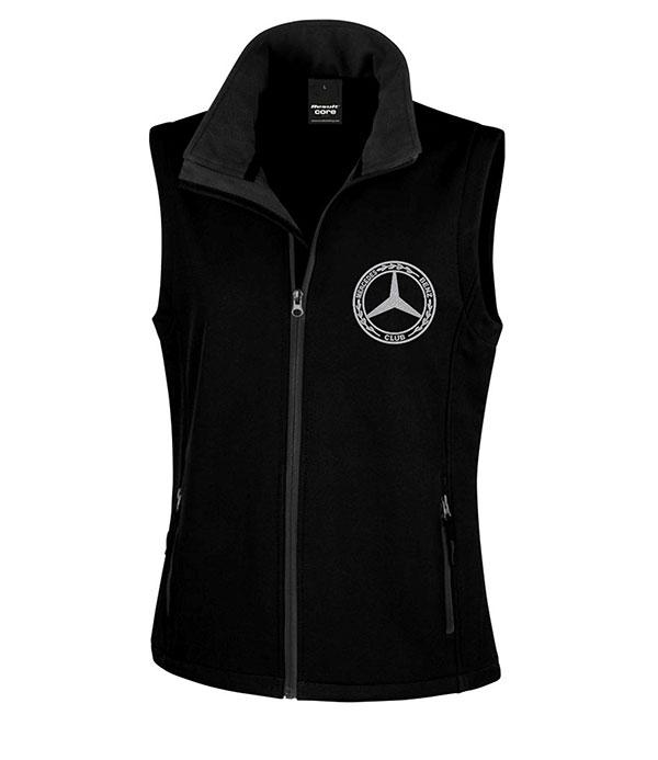 Mercedes-Benz Club Ladies Soft Shell Jacket Bodywarmer Black