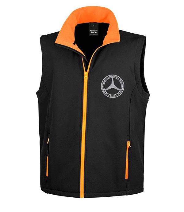 Mercedes-Benz Club Soft Shell Jacket Bodywarmer Black