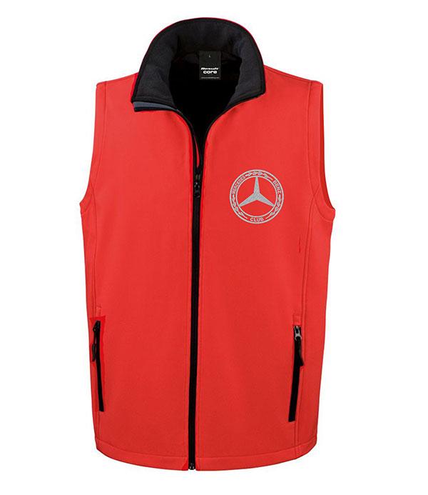 Mercedes-Benz Club Soft Shell Jacket Bodywarmer Red