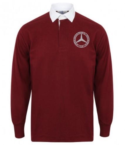 Mercedes-Benz Club Classic Rugby Shirt Burgundy