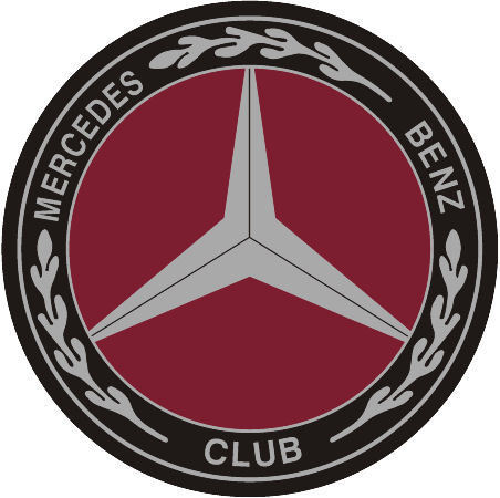 Mercedes-Benz Club Silver Insert Window Sticker