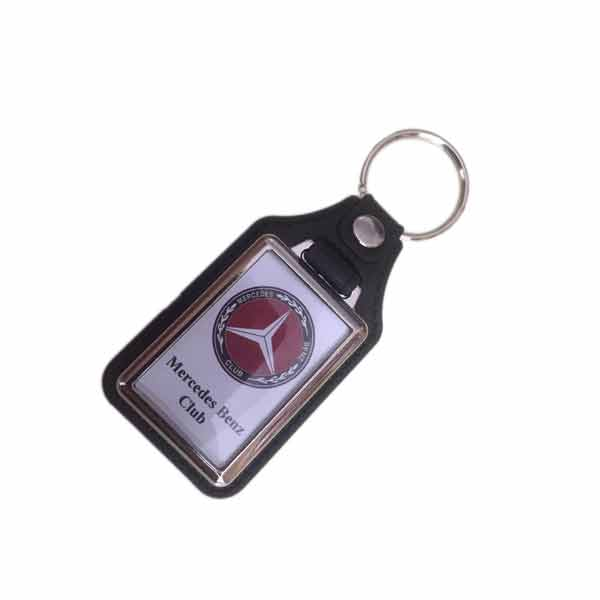 Mercedes Benz Club Black Rectangle Keyring