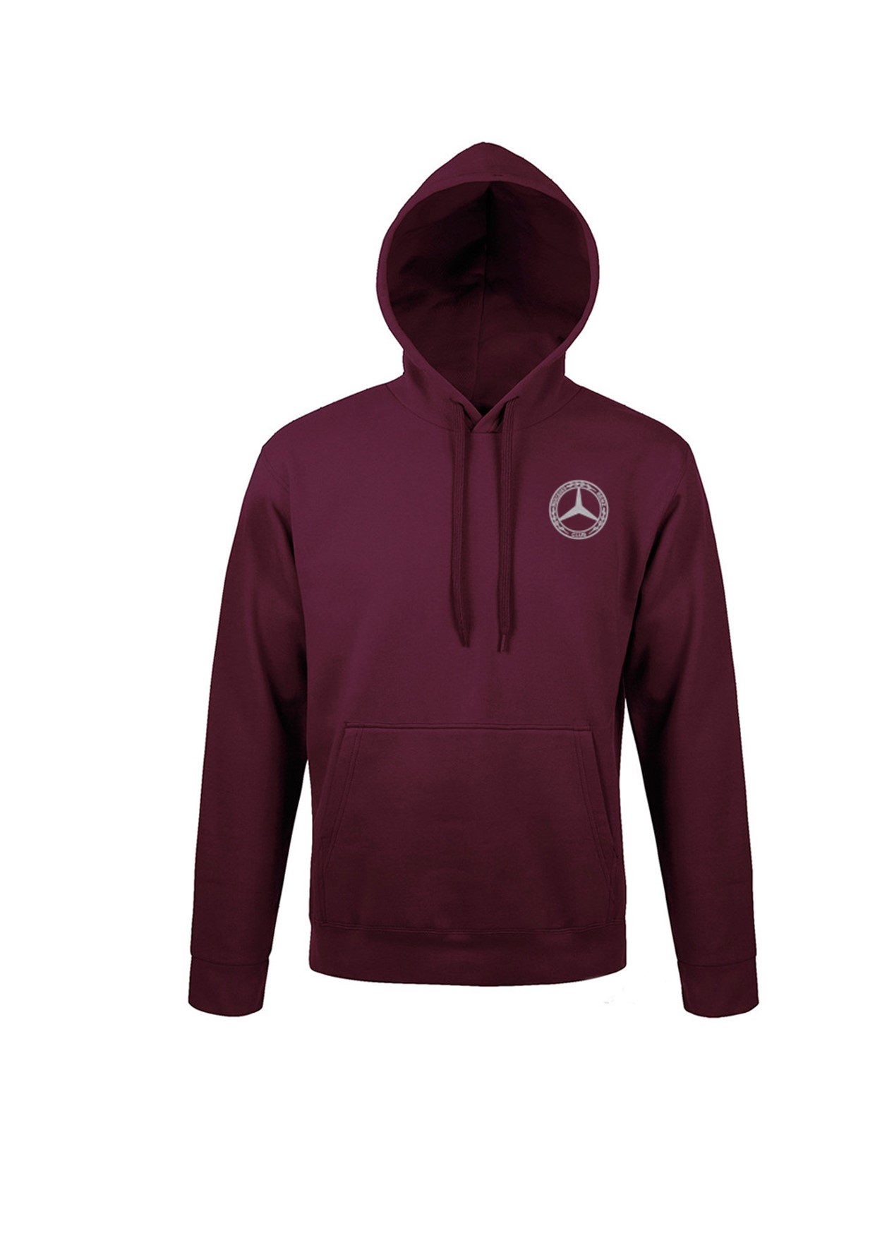 Mercedes-Benz Club Unisex Hooded Sweatshirt Burgundy