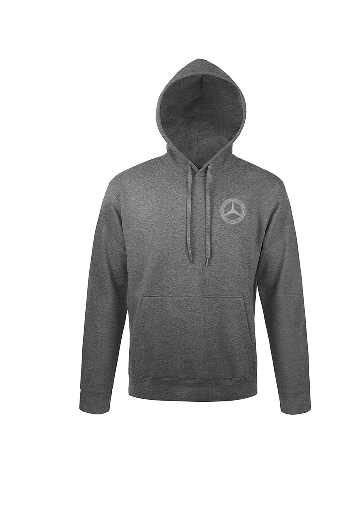 Mercedes-Benz Club Unisex Hooded Sweatshirt Charcoal Marl