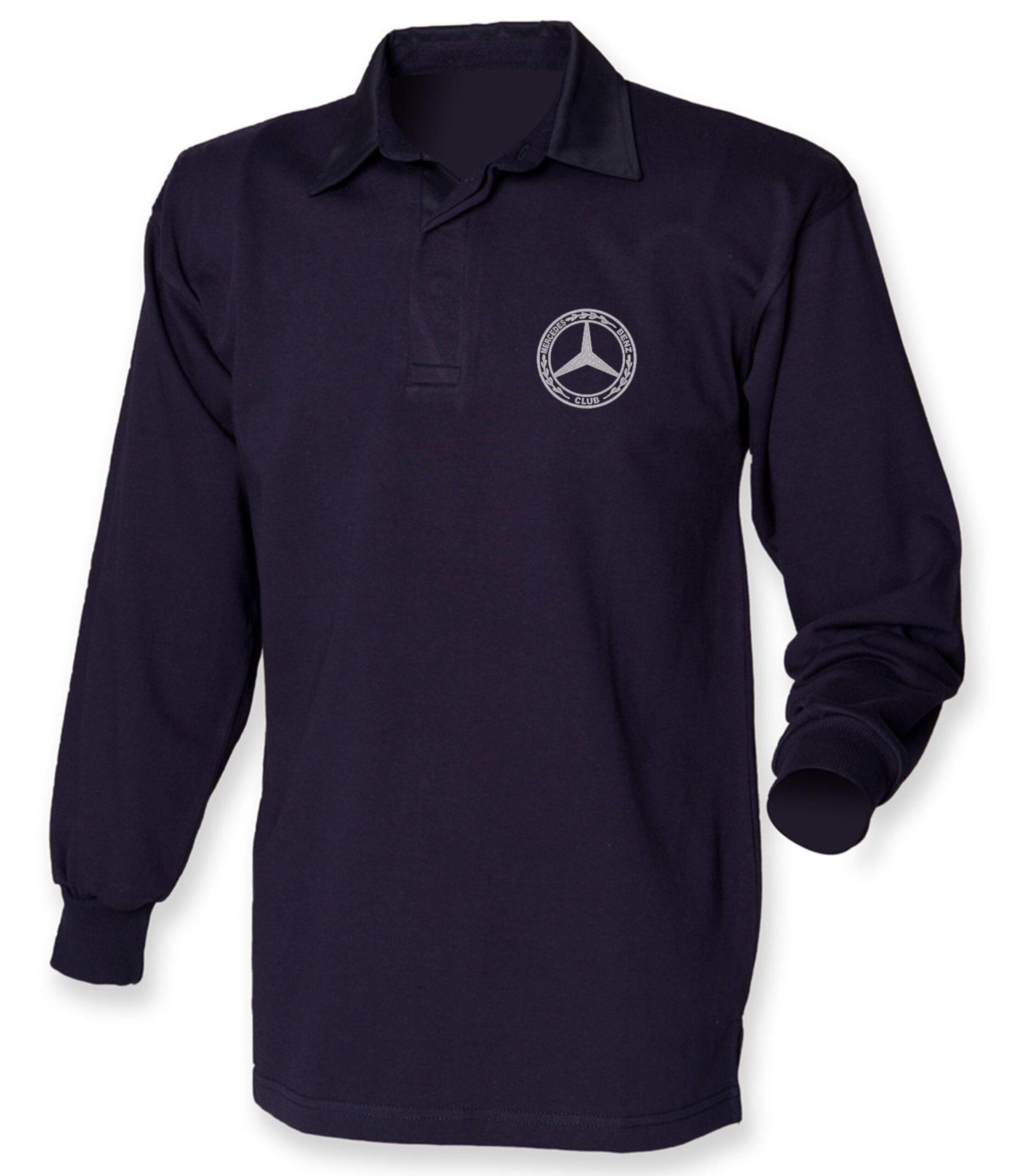 Mercedes-Benz Club Classic Rugby Shirt Navy Navy