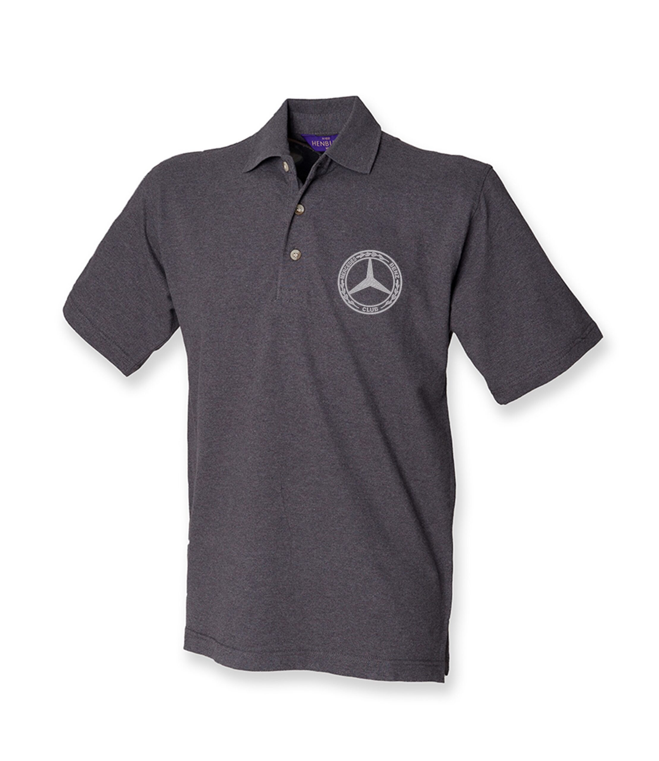 Mercedes-Benz Club Cotton Pique Polo Shirt Charcoal