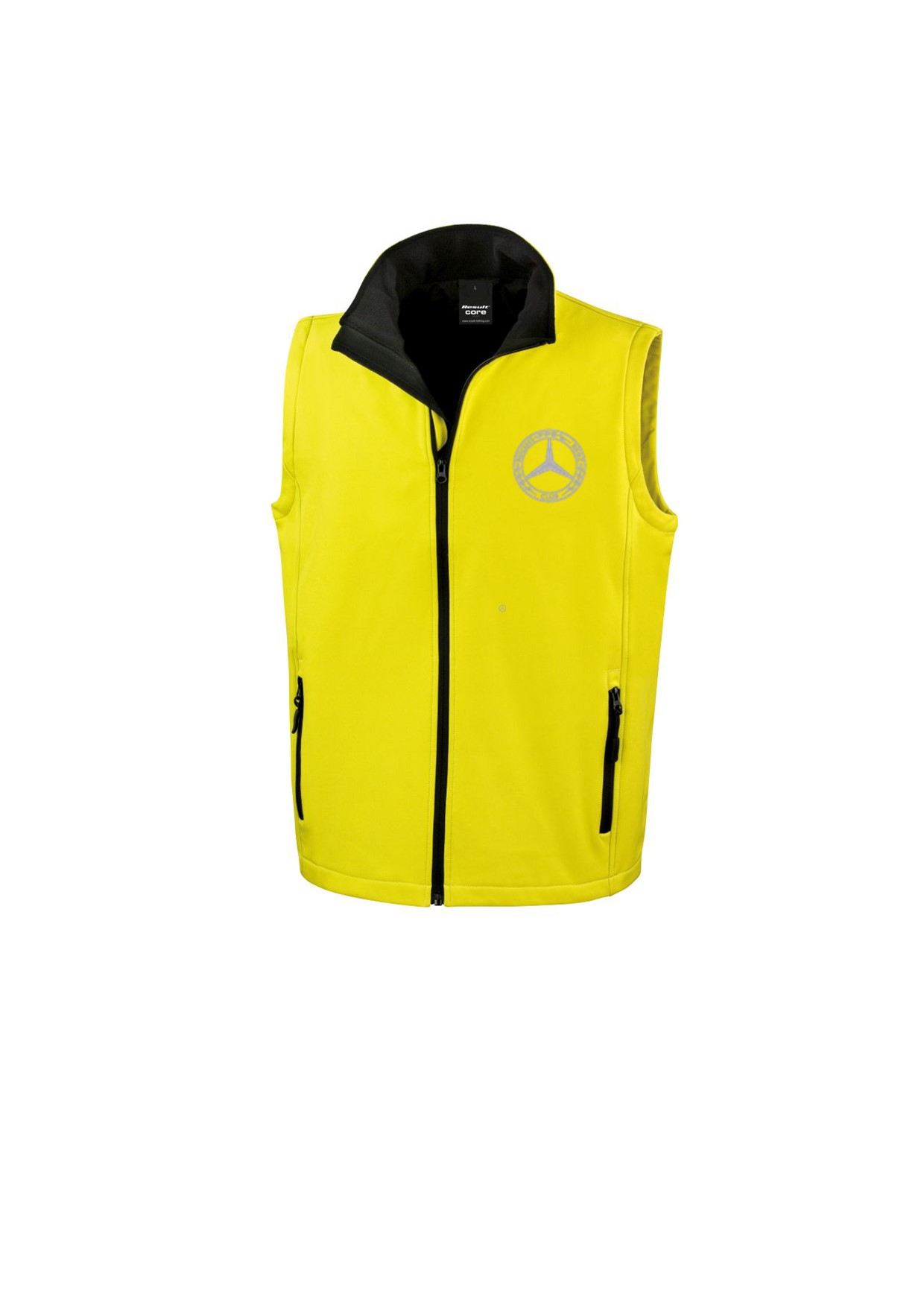 Mercedes-Benz Club Soft Shell Jacket Bodywarmer Yellow