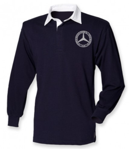Mercedes-Benz Club Classic Rugby Shirt Navy White