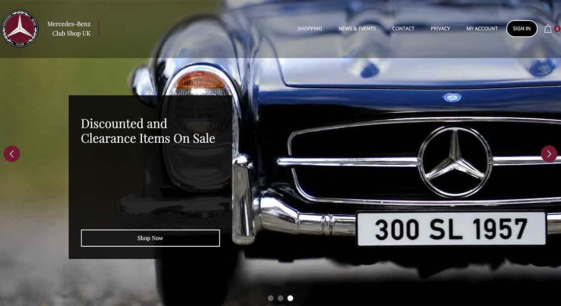 Mercedes-Benz Club Shop UK New Website