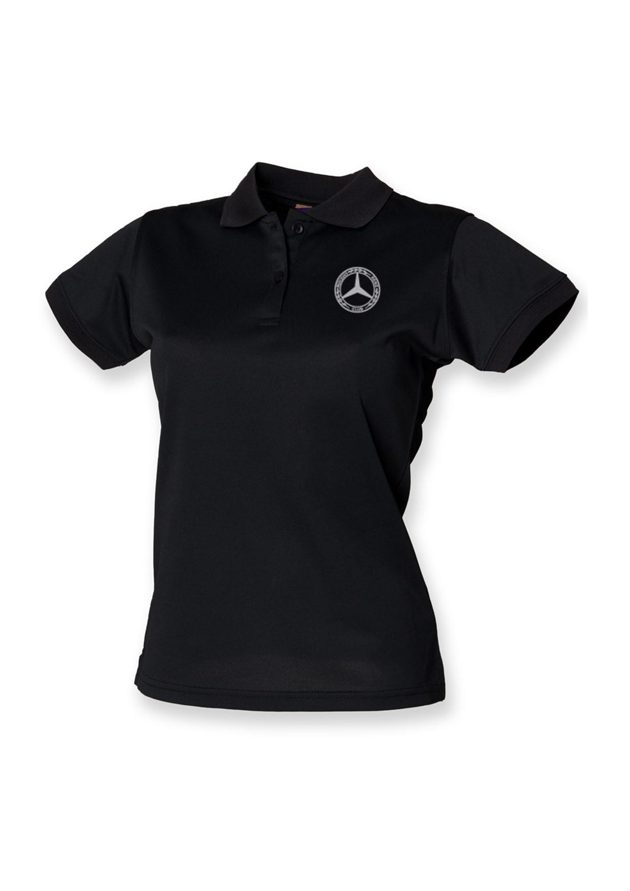 Mercedes-Benz Club Ladies Coolplus Wicking Pique Polo Shirt Black