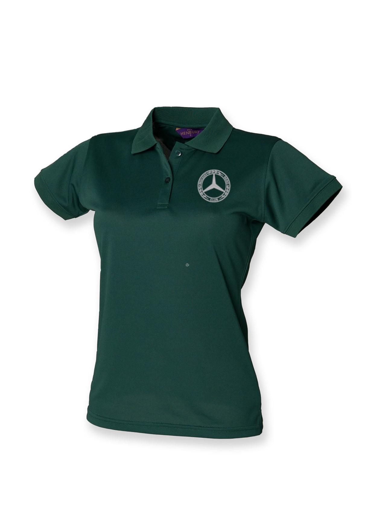 Mercedes-Benz Club Ladies Coolplus Wicking Pique Polo Shirt Bottle Green