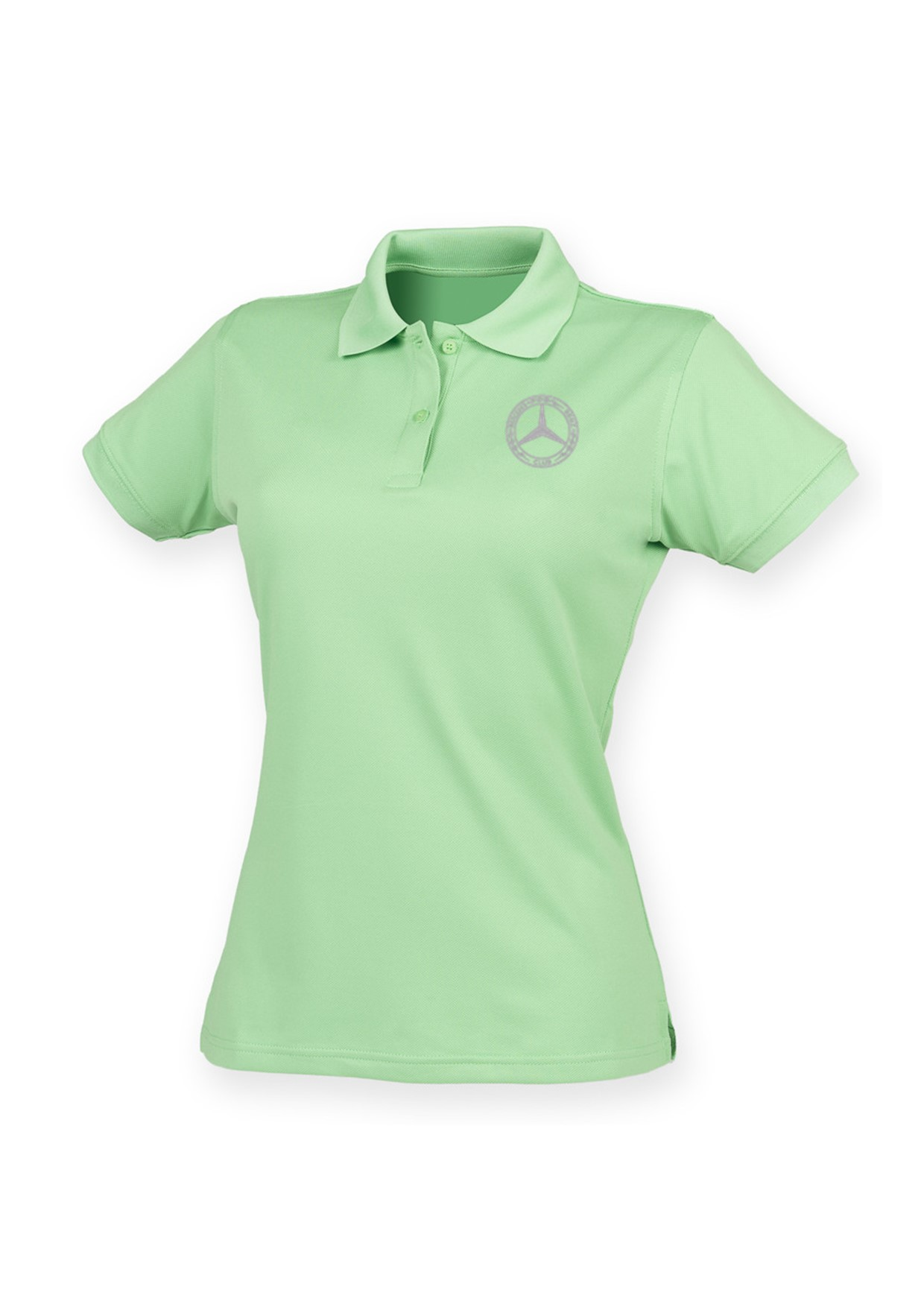 Mercedes-Benz Club Ladies Coolplus Wicking Pique Polo Shirt Lime