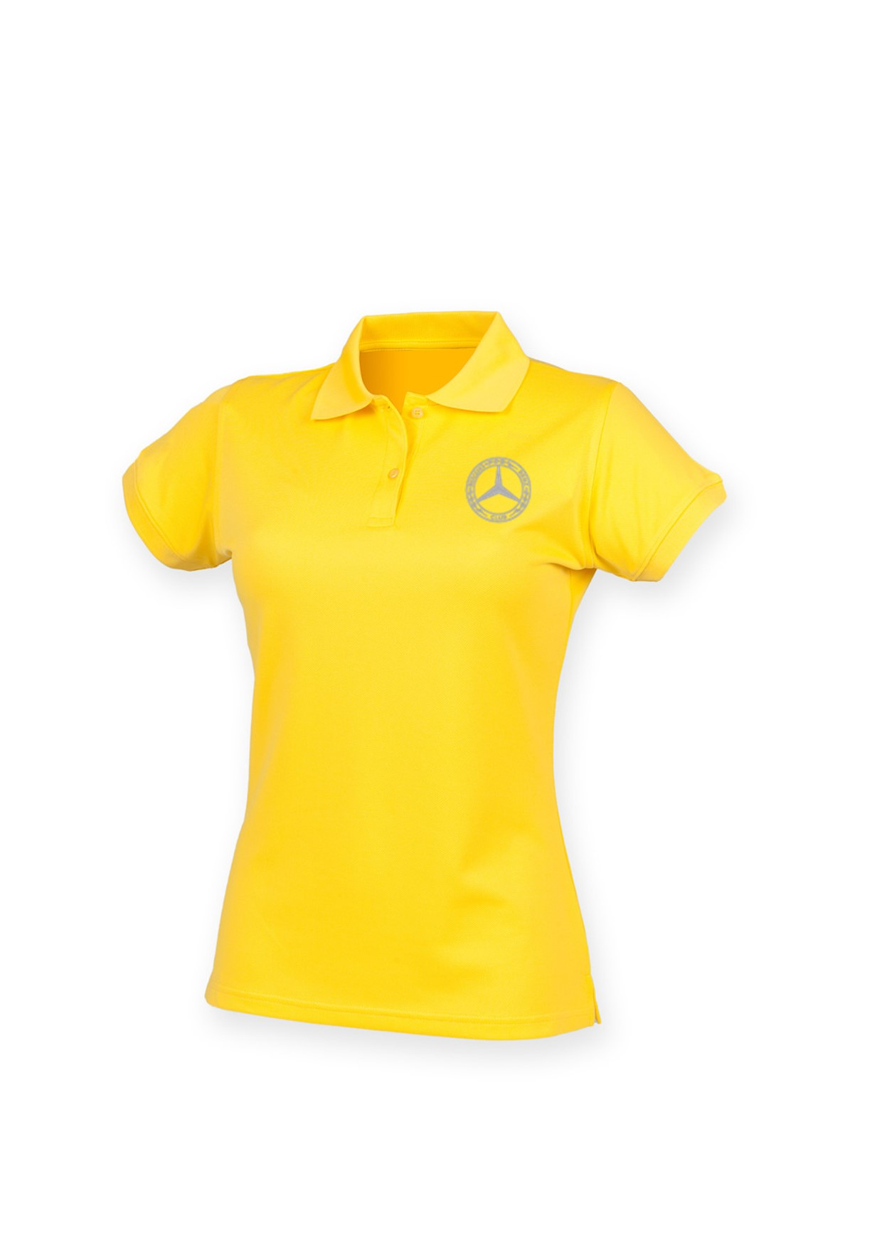 Mercedes-Benz Club Ladies Coolplus Wicking Pique Polo Shirt Yellow