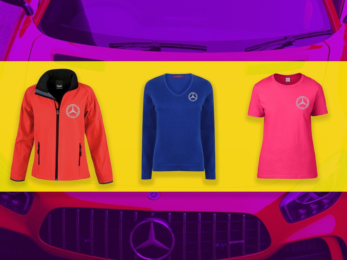 New 2020/21 Range of Mercedes-Benz Club Ladies Outdoor Clothing